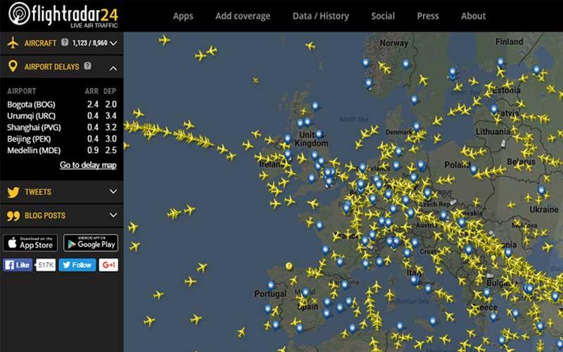 Flight Tradar Website