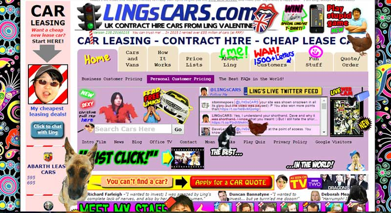 Lings Cars Website