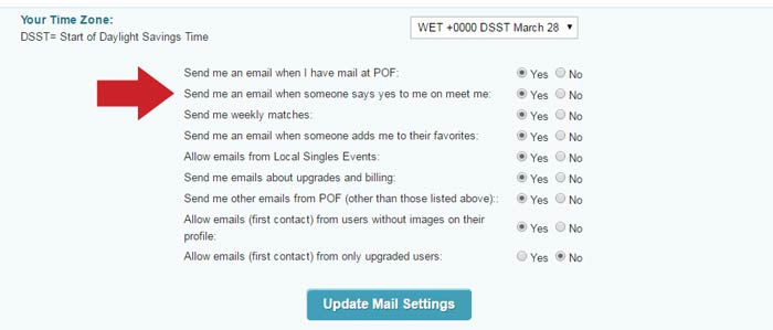 Pof mail settings