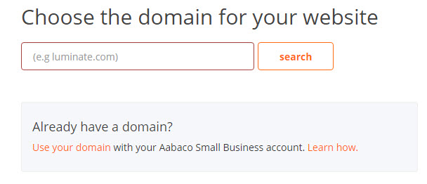 Yahoo web hosting choose a domain