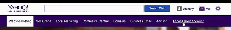 Yahoo web hosting Access your account
